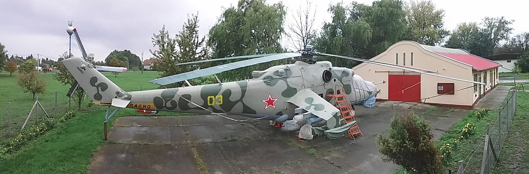 Freshly restored Mi-24D of the museum: this very machine was the very first export Mi-24 in the world! (ex. NVA Mi-24D 403, and later Bundeswehr 96+20)