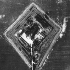 Aerial picture of the Kunmadaras nuclear bomb storage site from 1985.