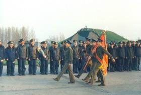 Прощание с флагом 328-го ограп на аэродроме Кунмадараш, 14 апреля 1991